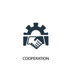 cooperation icon simple element vector image