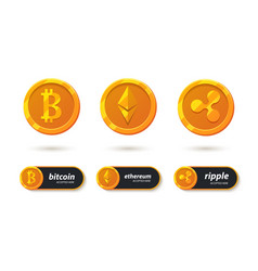 Cryptocurrency icon vector