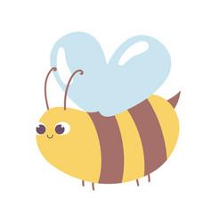 cute bee animal cartoon isolated design icon vector image