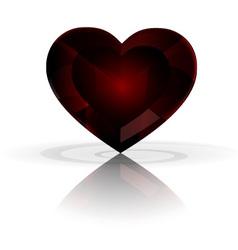 dark heart crystal vector image