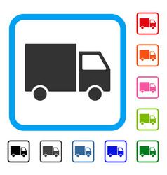 delivery van framed icon vector image
