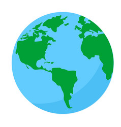 earth globe icon on white background vector image