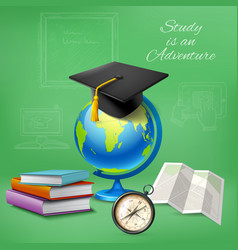 Education realistic design concept vector