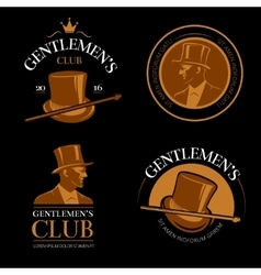 Elite mens club vintage labels vector image