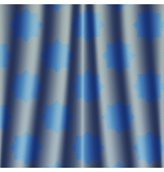 Fabric deep blue metallic colored night curtain vector