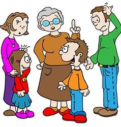Family talking vector