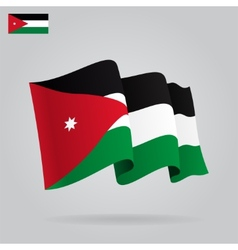 Flat and waving Jordan Flag vector
