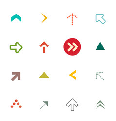 flat arrows set arrow symbols isolated on white vector image