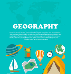 Geography study education and science concepts vector