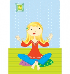 Girl meditation vector