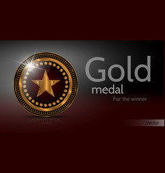 gold medal winner vector image