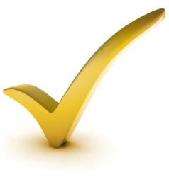 golden check mark vector image