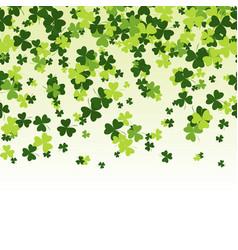 Green clover horizontally seamless pattern vector
