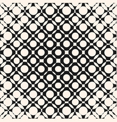 Halftone pattern with circles crossing shapes vector