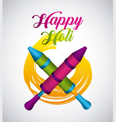 happy holi indian traditional carnival vector image