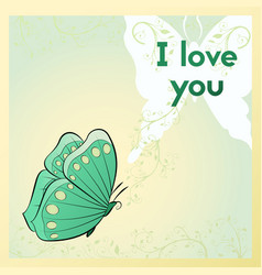 Happy valentines day greeting card i love you vector