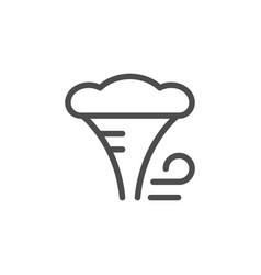 Hurricane line icon vector