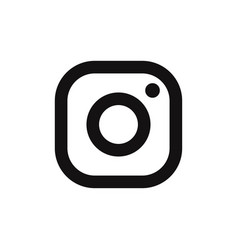 instagram logo icon social media symbol vector image