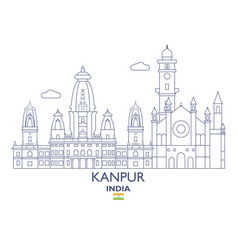 Kanpur city skyline vector