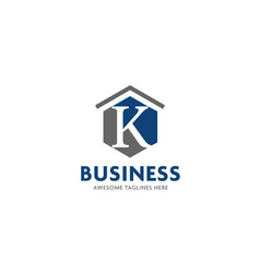 Letter k real estate logo vector