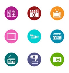 Making noise icons set flat style vector