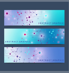 Modern scientific set of banners geometric vector