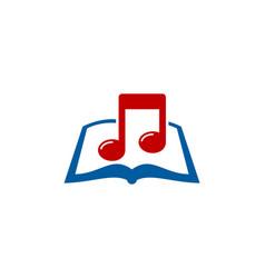 Music book logo icon design vector