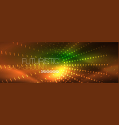 neon red dotted abstract background vector image