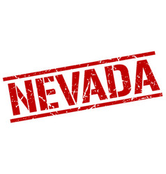 Nevada red square stamp vector