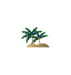 palm tree logo design concept vector image