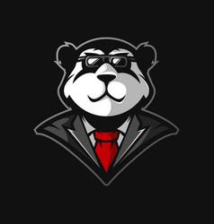 panda gaming logo vector image