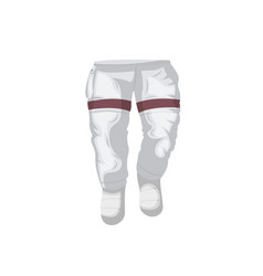 Pants of space suit isolated icon vector