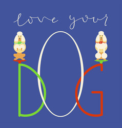 Quote about dog vector