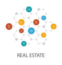 Real estate presentation template cover layout vector