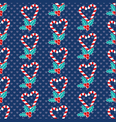 Romantic christmas pattern vector