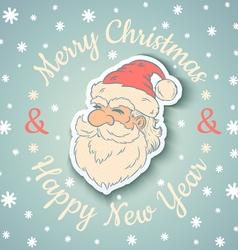 Santa vintage and snow vector image