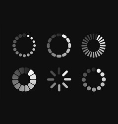 Set loading icon vector