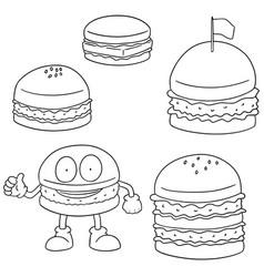 set of burger vector image
