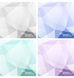 Set of light colorful abstract geometric vector