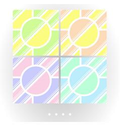 Set of light seamless patterns vector