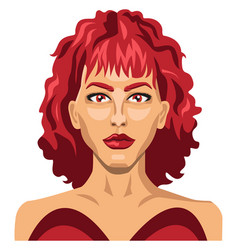 sexy girl with red hair on white background vector image