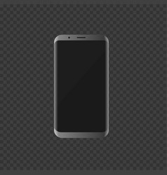 silver smartphone with modern design vector image