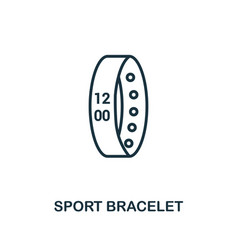 Sport bracelet icon monochrome style design from vector