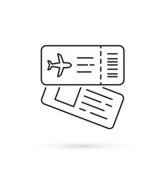 Thin line airline tickets icon vector