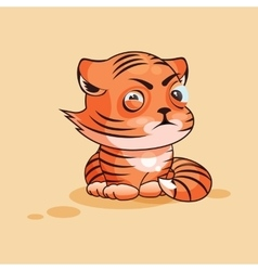 Tiger cub squints vector image