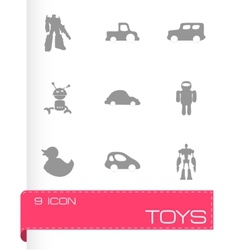 toys icons set vector image