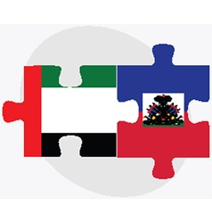 United Arab Emirates and Haiti Flags vector image