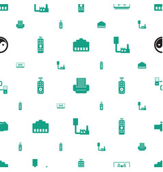 Universal icons pattern seamless white background vector