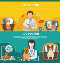 Veterinary doctor banners vector