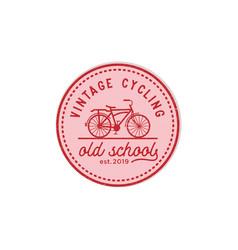 vintage cycling old school logo design vector image